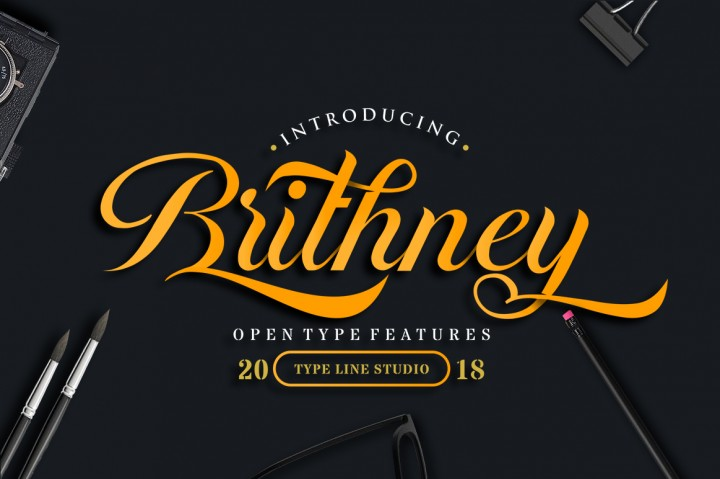 Brithney Free Handmade Calligraphy Font