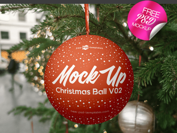 Christmas Ball MockUp PSD Template