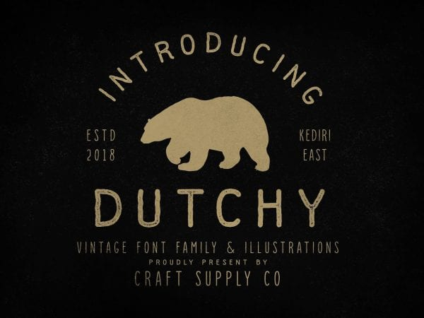 Dutchy Free Retro Vintage Font
