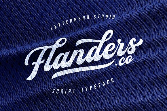 Flanders Modern Calligraphy Script Font