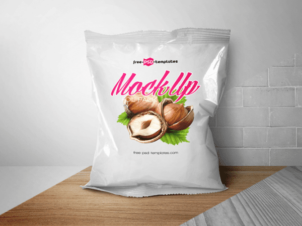 Foil Packaging MockUp PSD Template