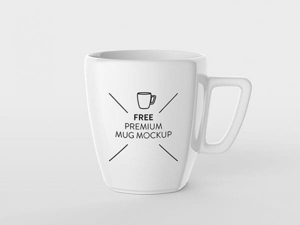 Free Ceramic Mug MockUp PSD Template
