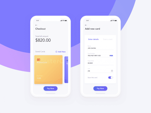 Free Credit Card Checkout App In PSD