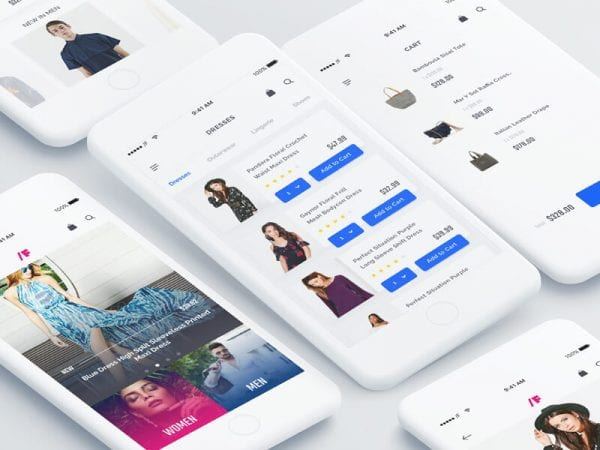 Free Fashion App UI Kit