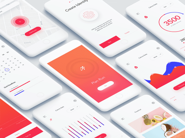 Free Fitness Dashboard App In PSD