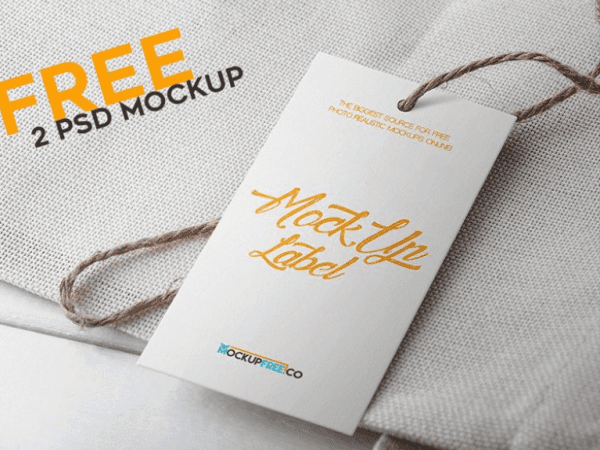 Free Label PSD MockUp Template