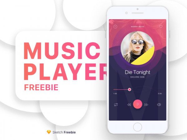Free Music Player App Design In PSD