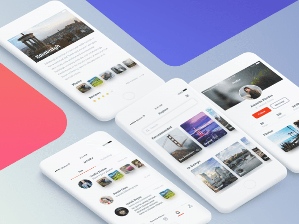 Free Travel App Design