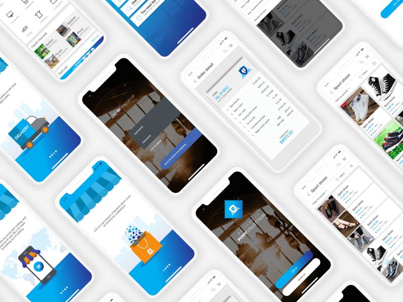 Free eCommerce Mobile App Design In PSD - Mockup Free Downloads
