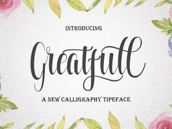 Greatfull Elegant Calligraphy Script Font