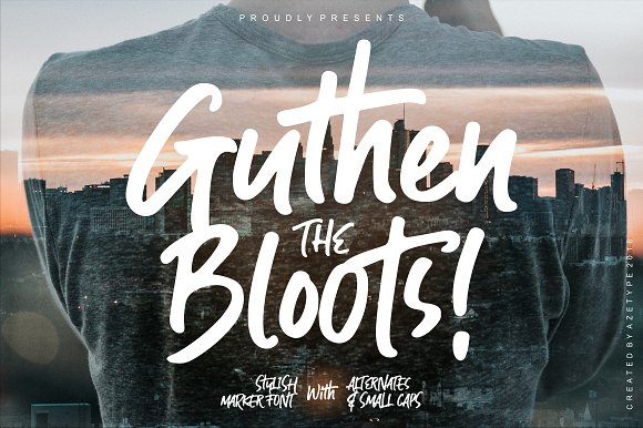 Guthen Bloots Handwriting Brush Script Font