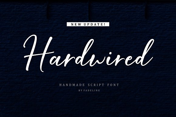 Hardwired Handwritten Script Font