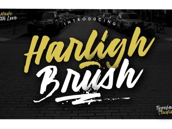 Harligh Modern Brush Script Font