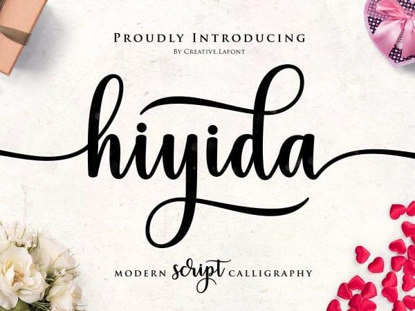 Hiyida Modern Calligraphy Typeface