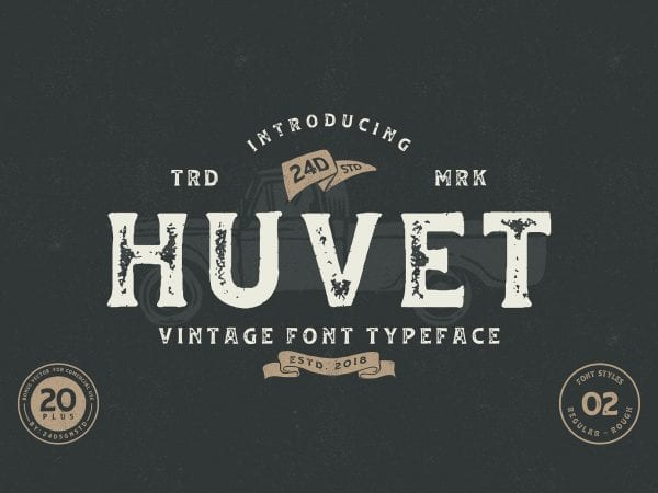 Huvet Vintage Display Fonts
