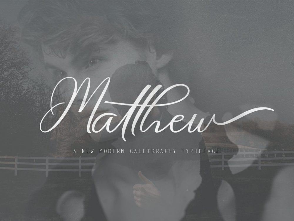 Matthew Calligraphy Script Font