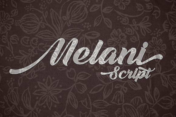 Melani Calligraphy Brush Script Font
