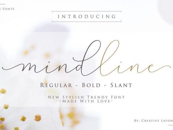 Mindline Free Calligraphy Script Font