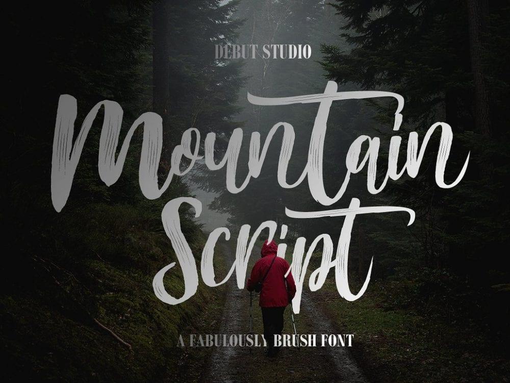 Mountain Handmade Brush Font