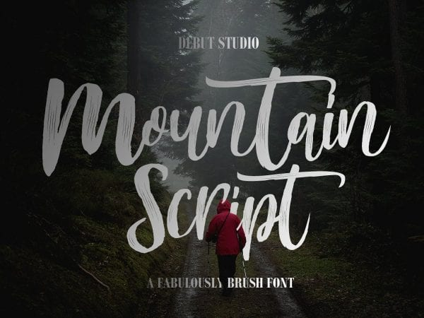 Mountain Handmade Brush Font