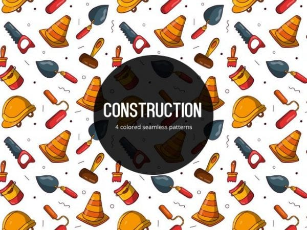 Pack Of Free Colored Construction Pattern