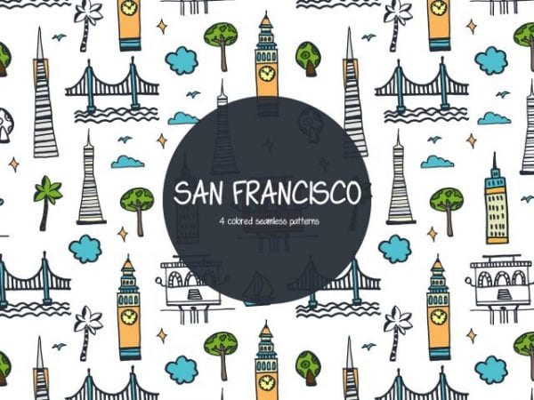 Pack Of Free San Francisco Vector Patterns