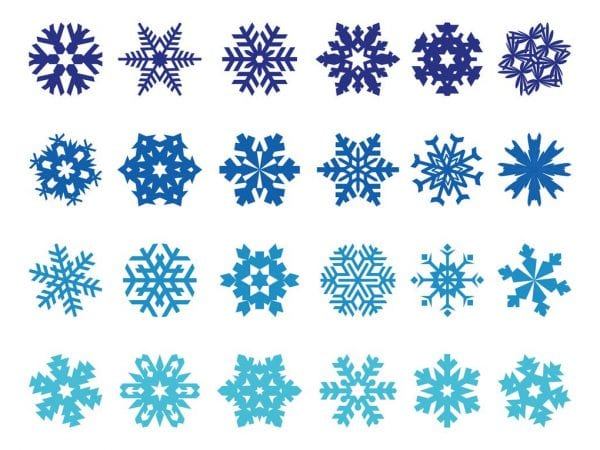 Pack Of Snowflake Vector Free Download