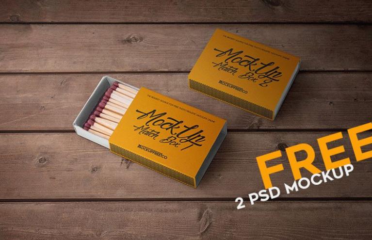 Photorealistic Matchbox Mockup PSD Template