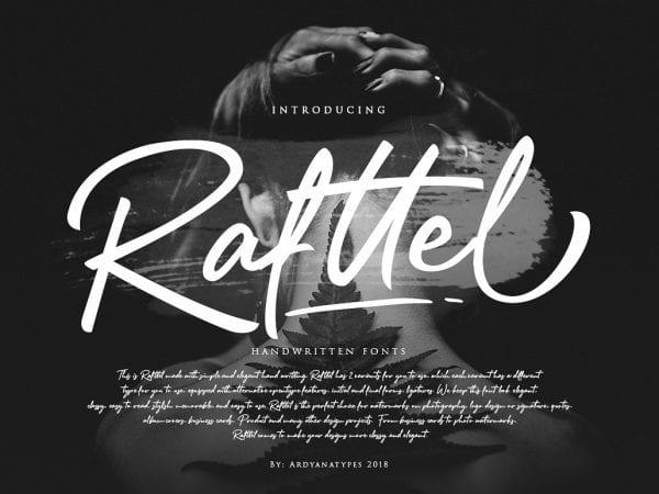 Rafttel Calligraphy Script Font
