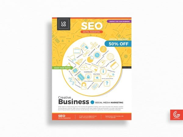 SEO Digital Marketing Flyers Template