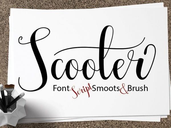 Scooter Handmade Script Font 1