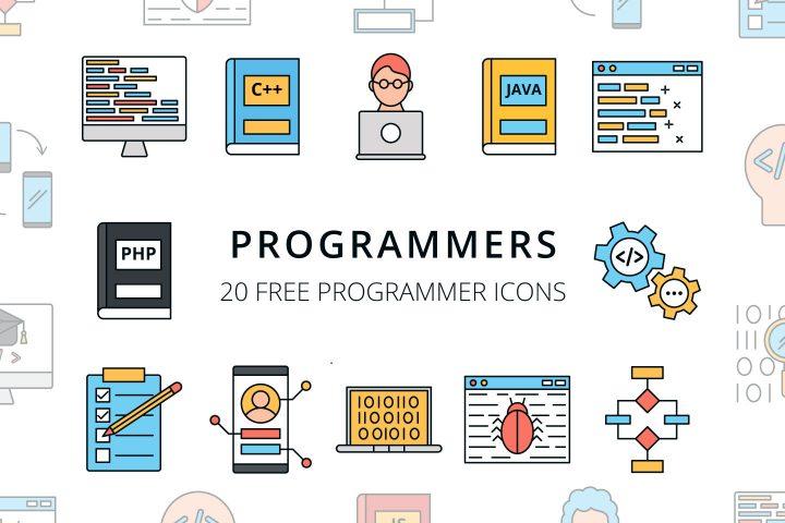 64c141c6bc6 Set Of 20 High-quality Program Icon Vector - Mockup Free Downloads