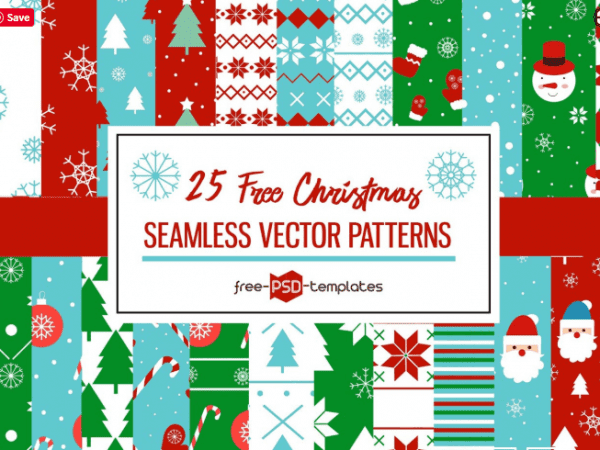 Set Of 25 Free Christmas Seamless Patterns