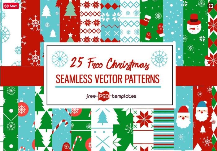 Set Of 25 Free Christmas Seamless Patterns - Mockup Free