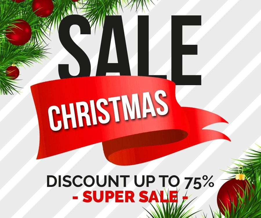 Set Of 6 Christmas Sale Banner