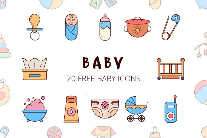 Set Of Free Baby Icon Vector