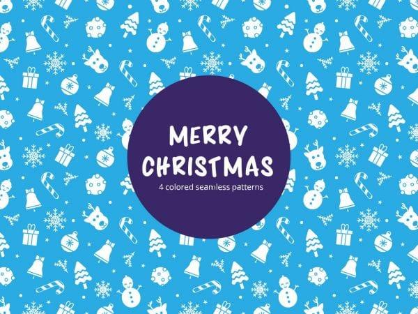 Set Of Free Christmas Seamless Pattern