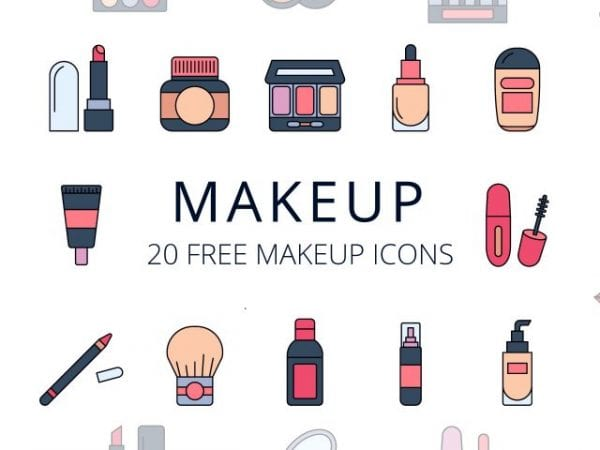Set Of Free Makeup Icon Vector
