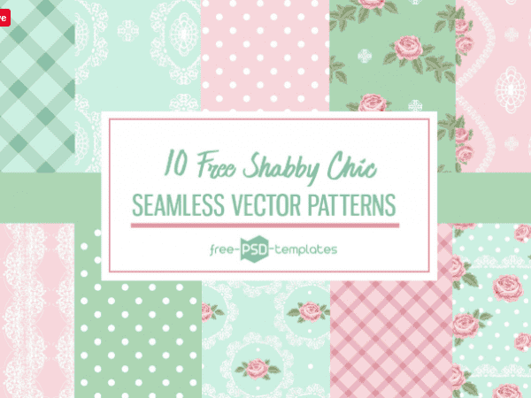 Set Of Free Shabby Chic Pattern