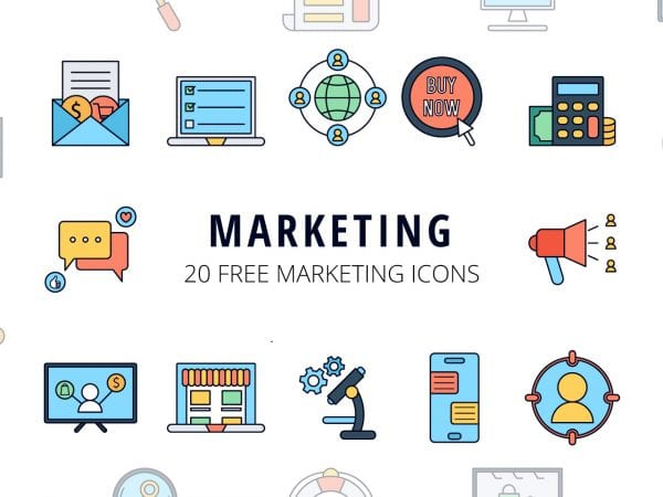 Set Of Marketing Icon Vector