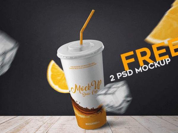Soda Cup MockUp PSD Templates