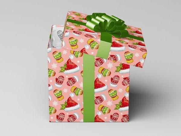 Square Gift Box PSD MockUp