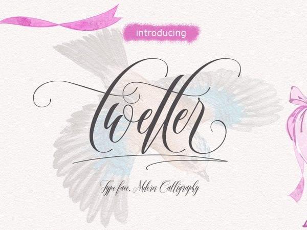 Twetter Handwritten Calligraphy Font