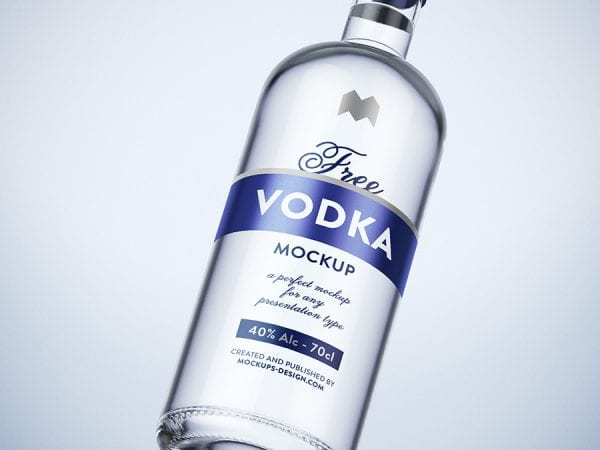 Vodka Bottle Mockup PSD Template