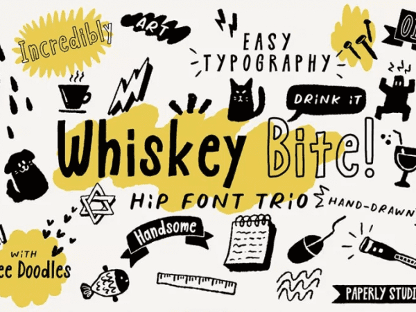 Whiskey Bite Script Display Font