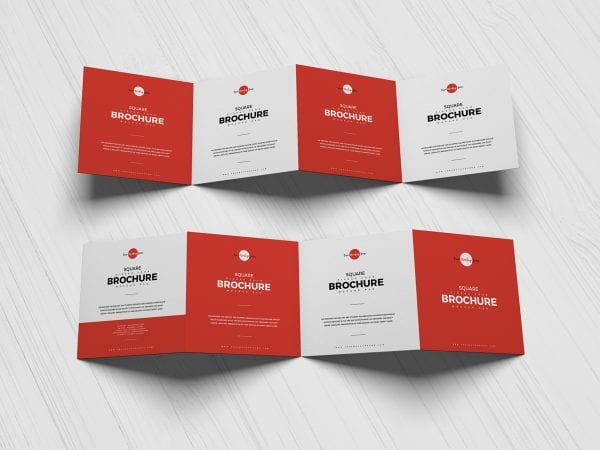 Zigzag Four Brochure Mockup PSD Template