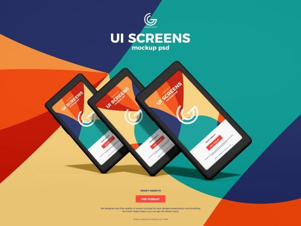 Amazing UI Screen Mockup PSD Template