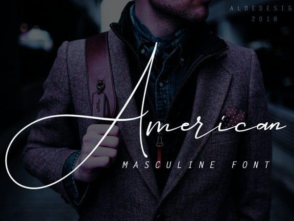 American Handwritten Signature Font