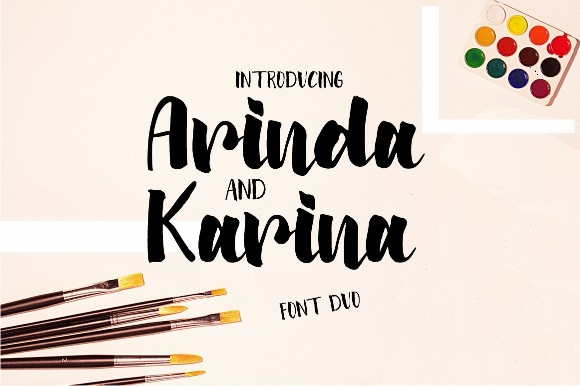 Arinda Modern Brush Script Font