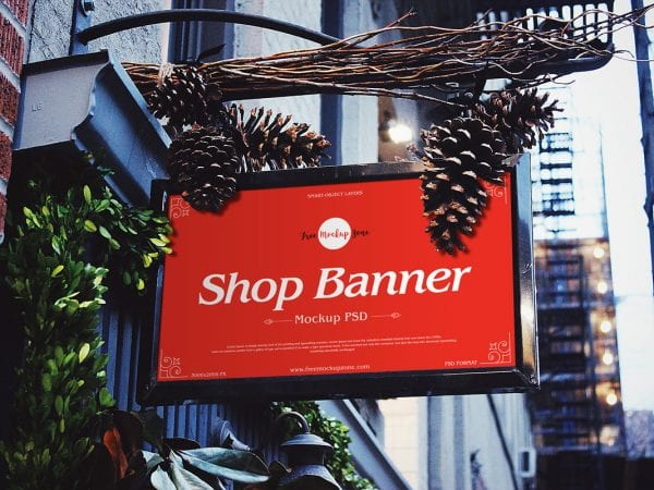 Awesome Brand Shop Banner Mockup PSD Template